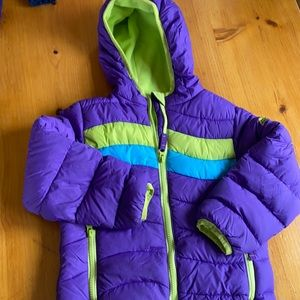 Snozu Purple hooded puffer size 5